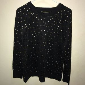 Loft Black and Gold Sweater
